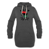 Know Thy Self Hoodie Dress - heather black