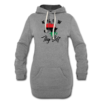 Know Thy Self Hoodie Dress - heather gray