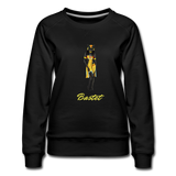 Bastet Cat Goddess Sweatshirt - black