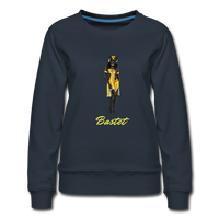 Bastet Cat Goddess Sweatshirt - navy