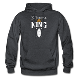 Warrior King Hoodie - charcoal gray