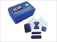 SCAN Hypoallergenic Blue Plasters 100 Assorted SCAFAPLACAT