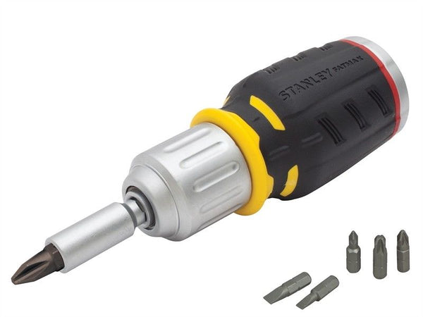 Stanley 0-68-010 Multibit Ratchet Screwdriver features a patented bit storag