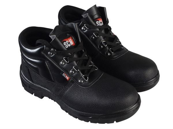 SCAN 4 D-Ring Chukka Black Safety Boots SCAFWCHUK