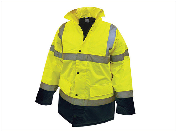 SCAWWHVMJMYB Hi-Vis Motorway Jacket Yellow Black