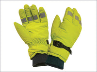 SCAGLOHVISL Hi-Visibility Gloves, Yellow Large