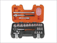BAHCO Socket Set of 24 Metric 1/2in Drive BAHS240 S240