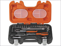 BAHCO Socket Set of 29 Metric 1/4in Drive BAHS290 S290