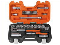 BAHCO Socket Set of 34 Metric 1/4in & 3/8in Drive BAHS330 S330