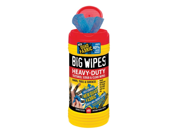 BIG WIPES 4x4 Heavy-Duty Cleaning Wipes Tub of 80 BGW2420