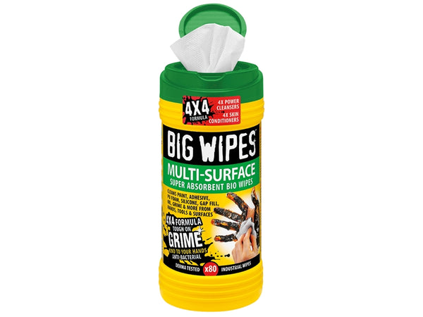 BIG WIPES 4x4 Multi-Surface Cleaning Wipes Tub of 80 BGW2440