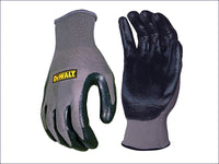 DEWALT Nitrile Nylon Gloves - Large DEWDPG66L