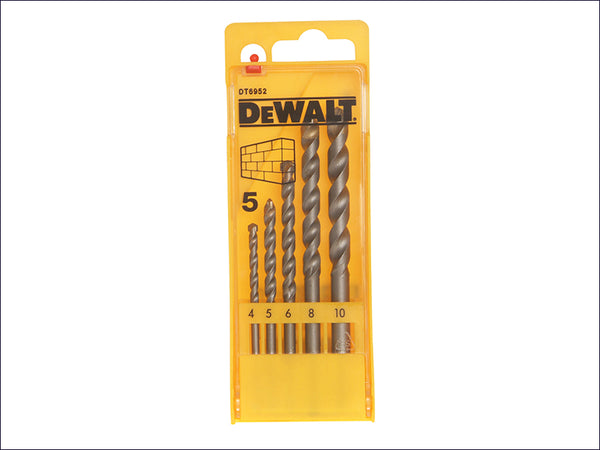 DEWALT Masonry Drill Set 5 Piece 4-10mm DEWDT6952QZ