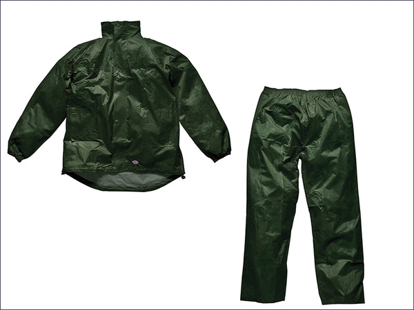 DICKIES Green Vermont Waterproof Suit - M (40-42in) DIC10050MG