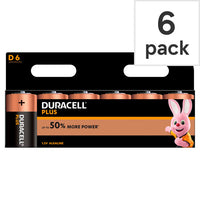 DURACELL Plus D batteries Pack of 6