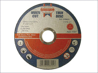 FAITHFULL Multi-Cut Thin Cut Off Wheel 125 x 1.0 x 22mm (Pack of 10) FAI12510MUL