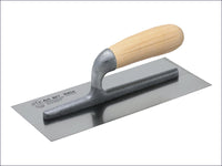 FAITHFULL Plasterers Finishing Trowel Stainless Steel Wooden Handle 11 x 4.3/4in FAI820 820