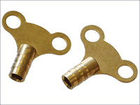Faithfull Radiator Keys - Brass (Pack of 2) FAIRADKEY