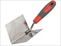 FAITHFULL Internal Corner Trowel Stainless Steel Soft Grip Handle FAISGTCINTSS