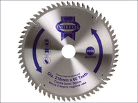 Faithfull Circular Saw Blade 216 x 30mm x 60T NEG FAIZ21660ATB