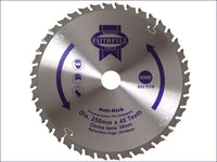 Faithfull Circular Saw Blade 250 x 30mm x 40T Anti Kick FAIZ25040AK