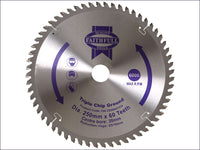 Faithfull Circular Saw Blade 250 x 30mm x 60T TCG Fine Finish FAIZ25060TCG