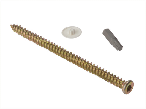 FORGEFIX Concrete Frame Screw Torx® Compatible High-Low Thread ZYP 7.5 x 182mm Box 100 FORCFS182