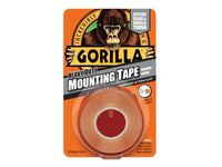 Gorilla Heavy-Duty Double Sided Clear Mounting Tape 25.4mm x 1.52m GRGGTHDDSMT