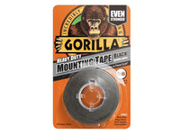 Gorilla Heavy-Duty Double Sided Black Mounting Tape 25.4mm x 1.52m GRGHDMT
