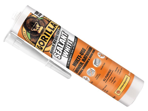 Gorilla Mould Resistant Sealant White 295ml GRGSEALWH295