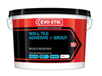 EVO-STIK EVO416536 Mould Resistant Wall Tile Adhesive & Grout 5 Litre