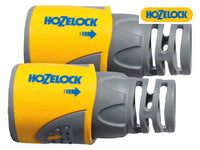 HOZELOCK 2050AV Hose End Connector for 12.5 - 15mm (1/2 - 5/8in) Hose Twin Pack HOZ2050AV