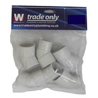 32MM 45 DEGREE SPIGOT BEND PACK