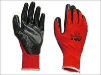 SCAN Palm Dipped Black Nitrile Glove - Large SCAGLONITBL
