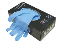 SCAN Premium Nitrile Examination Gloves - Large (100) SCAGLONITLGE