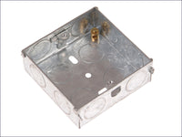 SMJ Metal Box 1 Gang 25mm Depth - Loose SMJMBB25S