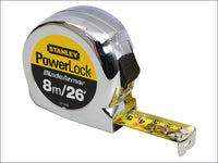 STANLEY STA033526 PowerLock® BladeArmor® Pocket Tape 8m/26ft (Width 25mm)