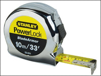 STANLEY STA033531 PowerLock® BladeArmor® Pocket Tape 10m/33ft (Width 25mm)