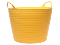 FAITHFULL Heavy-Duty Polyethylene Flex Tubs Yellow