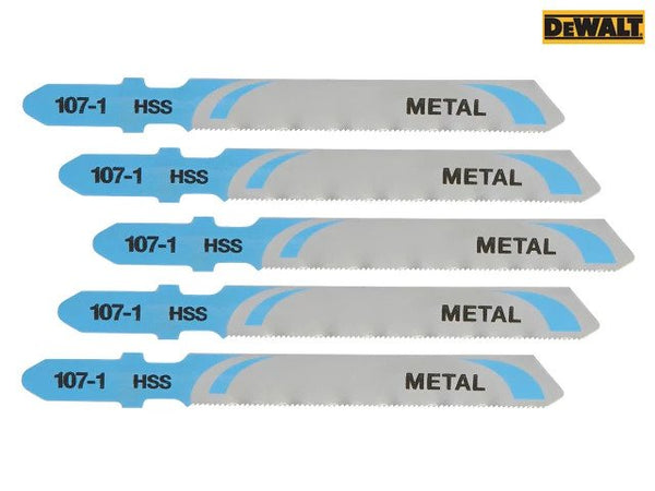 DEWALT HSS Metal Cutting Jigsaw Blades Pack of 5 T118G DEWDT2162QZ