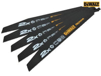 DEWALT 2X Life General Purpose Reciprocating Blades 152mm Pack of 5 DEWDT2301LQZ
