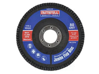 FAITHFULL FAIFD115F Abrasive Jumbo Flap Disc 115mm VARIOUS