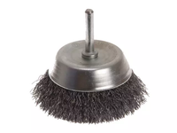 FAITHFULL FAIWBS75 Wire Cup Brush 75mm x 6mm Shank 0.30mm