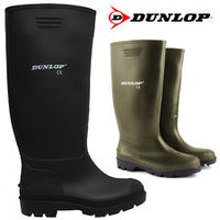DUNLOP Wellingtons Sizes 5-12 Green or Black