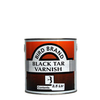 Bird Brand Black Tar Varnish 2.5Ltr