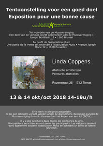 Art exhibition in aid of the Belgian Muco Association