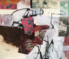 Collage - mixed media on paper - 47x55 cm