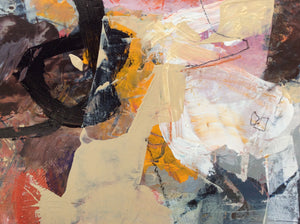 Linda Coppens- colorful abstract painting-detail