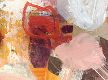 colorful abstract painting by Linda Coppens-detail