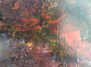 Border crossing - abstract painting - detail